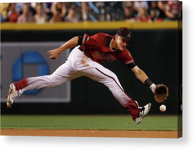 American League Baseball Acrylic Print featuring the photograph Nick Ahmed by Christian Petersen
