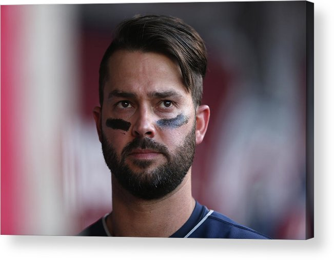American League Baseball Acrylic Print featuring the photograph Nick Swisher by Jeff Gross