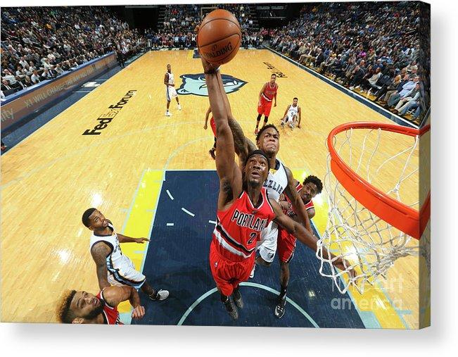 Nba Pro Basketball Acrylic Print featuring the photograph Noah Vonleh and Jarell Martin by Joe Murphy