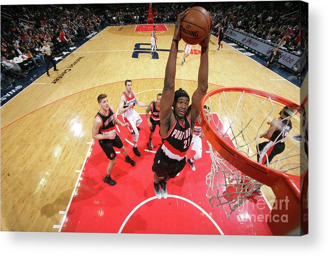 Nba Pro Basketball Acrylic Print featuring the photograph Noah Vonleh by Ned Dishman