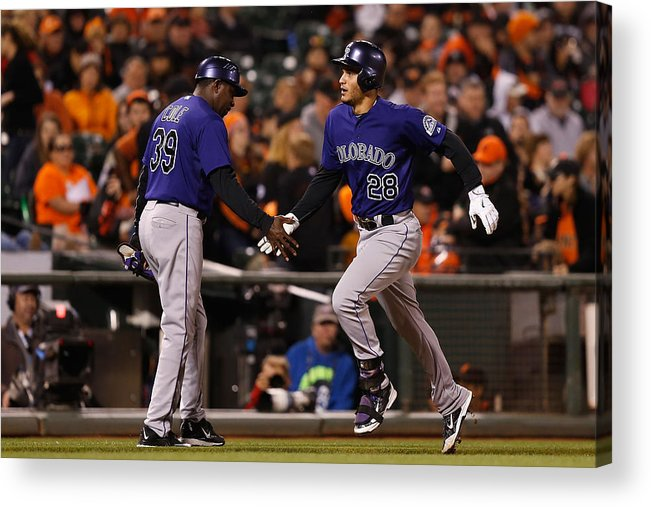 San Francisco Acrylic Print featuring the photograph Nolan Arenado by Lachlan Cunningham