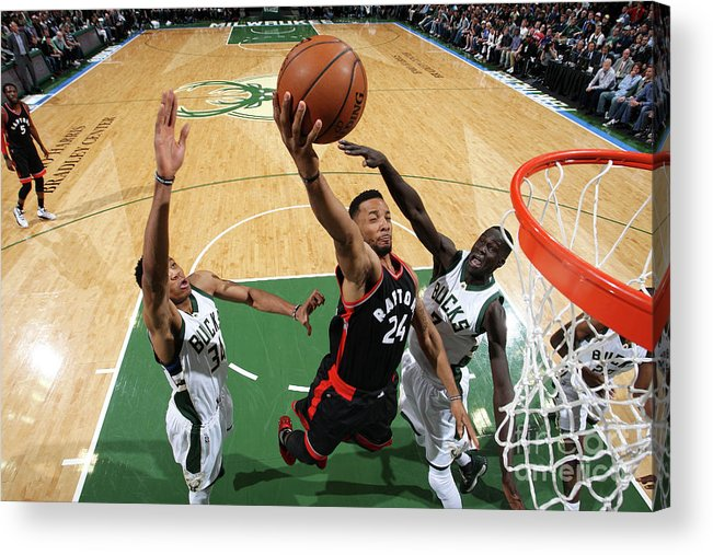 Playoffs Acrylic Print featuring the photograph Norman Powell by Gary Dineen