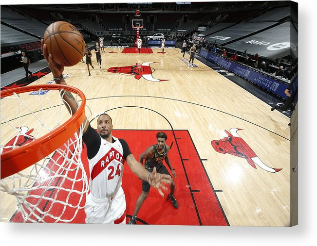 Nba Pro Basketball Acrylic Print featuring the photograph Norman Powell by Jeff Haynes