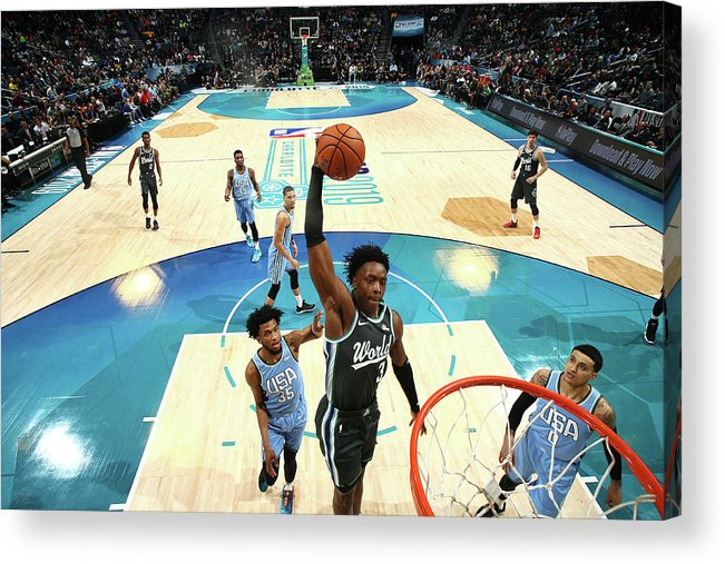 Nba Pro Basketball Acrylic Print featuring the photograph Og Anunoby by Nathaniel S. Butler