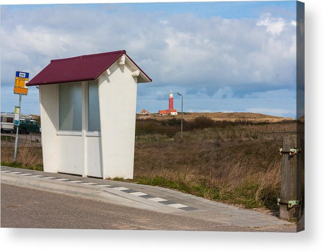 North Holland Acrylic Print featuring the photograph Old fashioned bus stopon the island of Texel, the Netherlands by Flottmynd