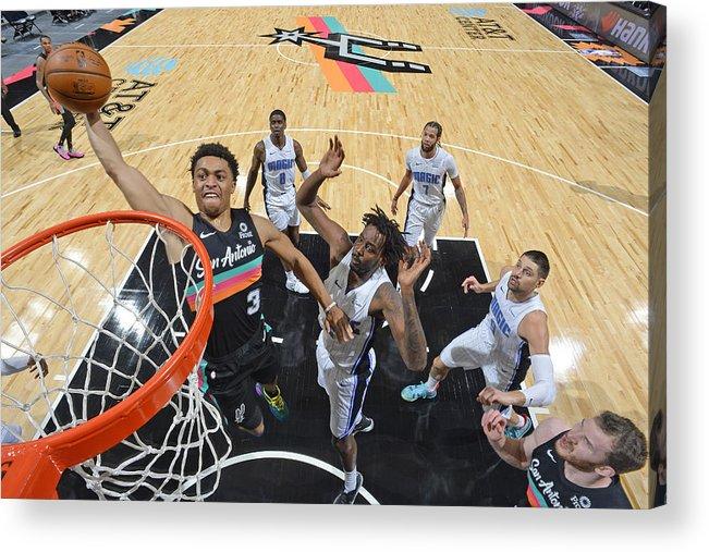 Keldon Johnson Acrylic Print featuring the photograph Orlando Magic vs. San Antonio Spurs by Logan Riely