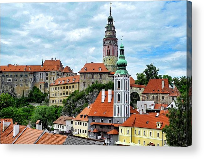 Cesky Krumlov Acrylic Print featuring the photograph Overview of Cesky Krumlov by Kirsten Giving