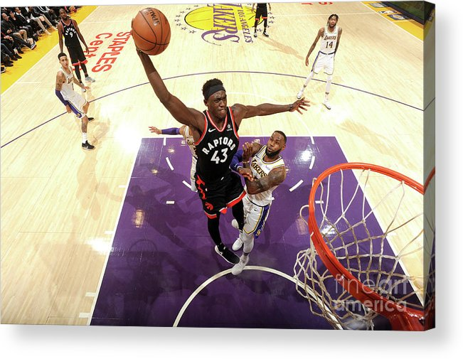Nba Pro Basketball Acrylic Print featuring the photograph Pascal Siakam by Andrew D. Bernstein
