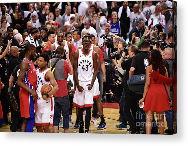 Playoffs Acrylic Print featuring the photograph Pascal Siakam by David Dow