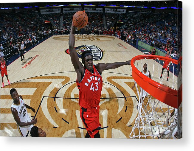 Smoothie King Center Acrylic Print featuring the photograph Pascal Siakam by Layne Murdoch Jr.