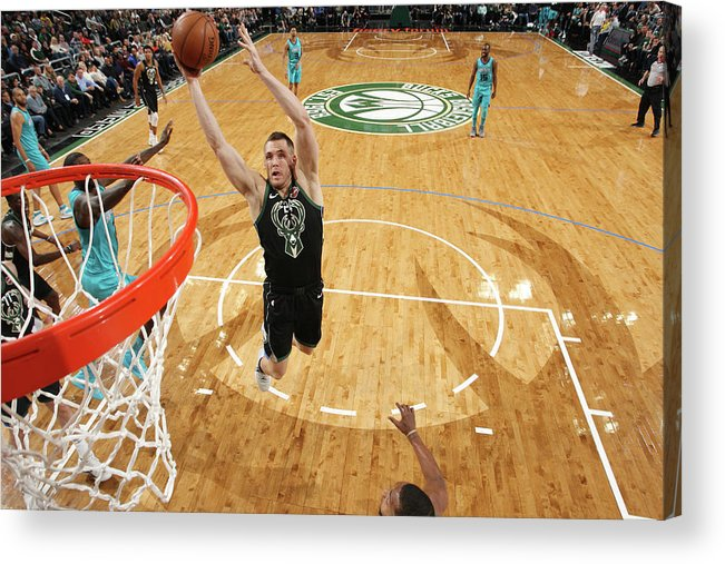 Nba Pro Basketball Acrylic Print featuring the photograph Pat Connaughton by Gary Dineen
