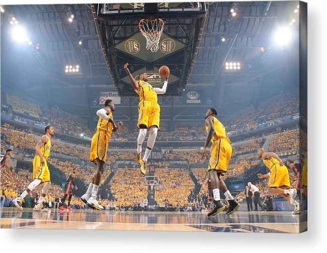 Playoffs Acrylic Print featuring the photograph Paul George by Ron Hoskins