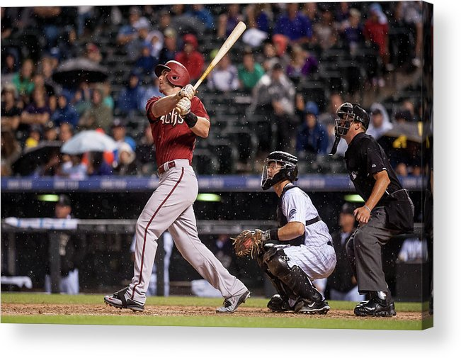 People Acrylic Print featuring the photograph Paul Goldschmidt and Nick Hundley by Dustin Bradford