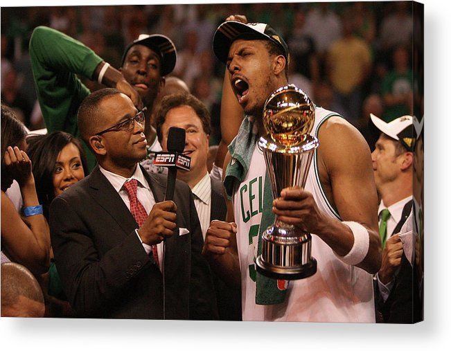 Playoffs Acrylic Print featuring the photograph Paul Pierce by Elsa