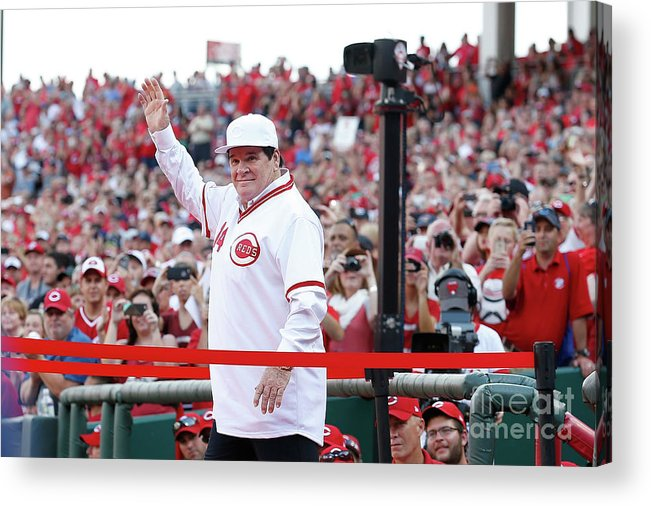 Great American Ball Park Acrylic Print featuring the photograph Pete Rose by Kirk Irwin