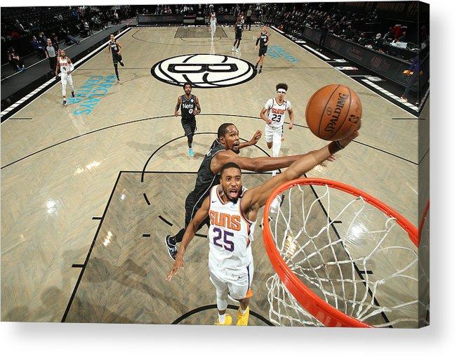 Nba Pro Basketball Acrylic Print featuring the photograph Phoenix Suns v Brooklyn Nets by Nathaniel S. Butler