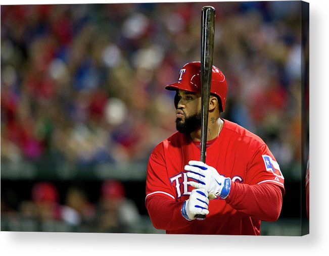 American League Baseball Acrylic Print featuring the photograph Prince Fielder by Cooper Neill
