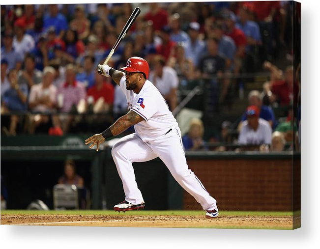 People Acrylic Print featuring the photograph Prince Fielder by Ronald Martinez