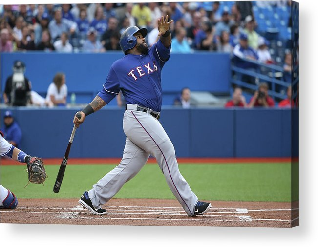 People Acrylic Print featuring the photograph Prince Fielder by Tom Szczerbowski