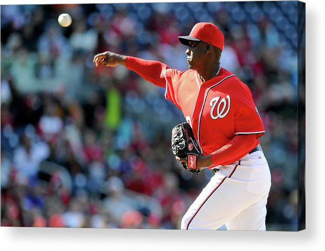 Ninth Inning Acrylic Print featuring the photograph Rafael Soriano by Greg Fiume