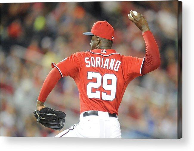 Baseball Pitcher Acrylic Print featuring the photograph Rafael Soriano by Mitchell Layton