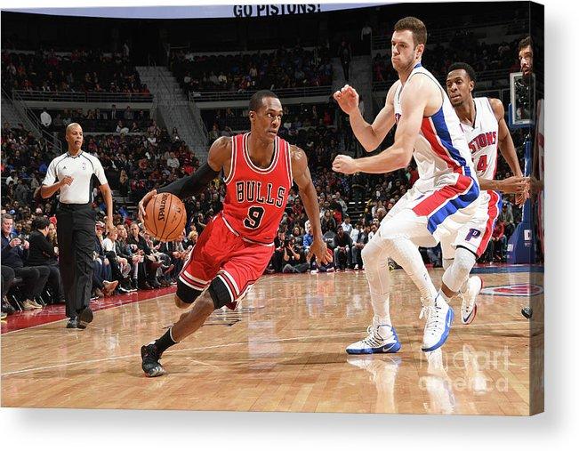 Nba Pro Basketball Acrylic Print featuring the photograph Rajon Rondo by Chris Schwegler