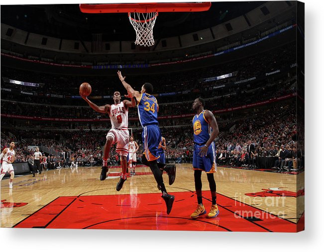 Nba Pro Basketball Acrylic Print featuring the photograph Rajon Rondo by Gary Dineen