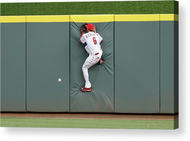 Great American Ball Park Acrylic Print featuring the photograph Randal Grichuk by Andy Lyons