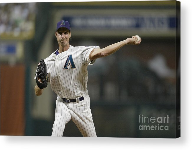 American League Baseball Acrylic Print featuring the photograph Randy Johnson by Rich Pilling
