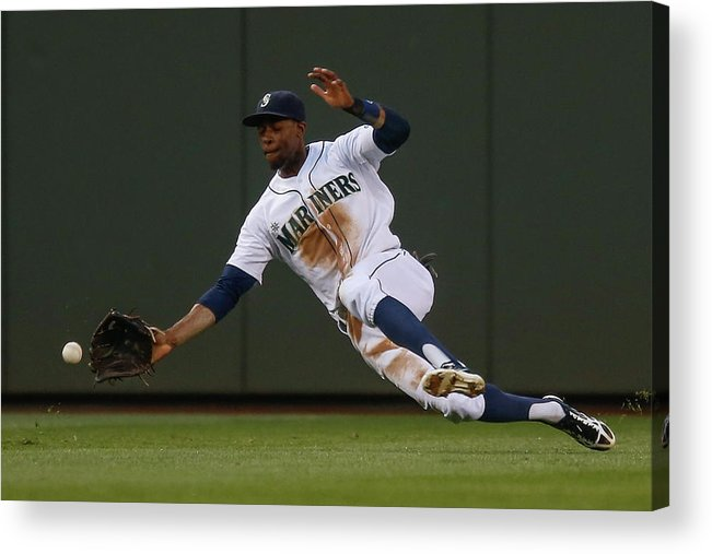 American League Baseball Acrylic Print featuring the photograph Raul Ibanez and James Jones by Otto Greule Jr