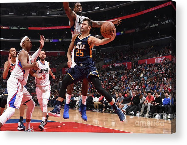 Nba Pro Basketball Acrylic Print featuring the photograph Raul Neto by Andrew D. Bernstein
