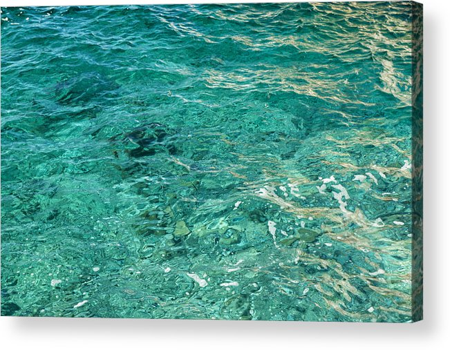 French Riviera Acrylic Print featuring the photograph Reflection on blue sea by Jean-Marc PAYET