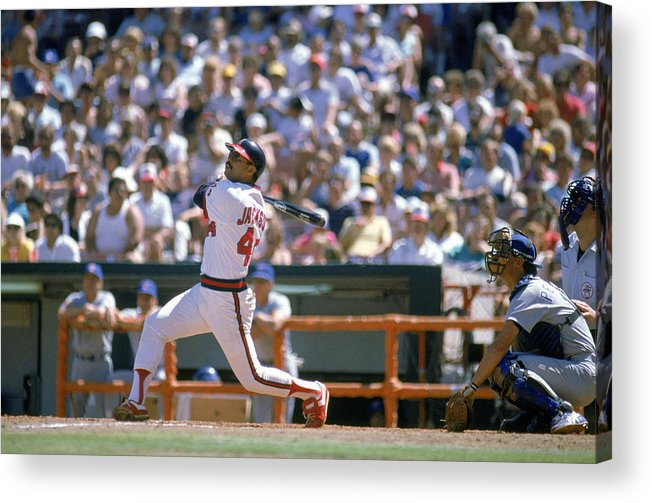1980-1989 Acrylic Print featuring the photograph Reggie Jackson by Mike Powell