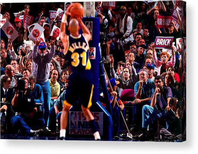 Playoffs Acrylic Print featuring the photograph Reggie Miller by Noren Trotman