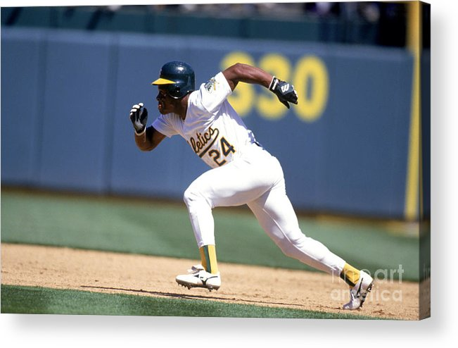 American League Baseball Acrylic Print featuring the photograph Rickey Henderson by Jeff Carlick