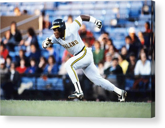 1980-1989 Acrylic Print featuring the photograph Rickey Henderson by Ronald C. Modra/sports Imagery