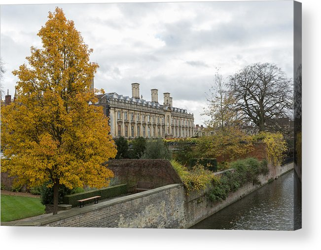 Cambridgeshire Acrylic Print featuring the photograph River Cam in Cambridge England city scene by Mikeuk