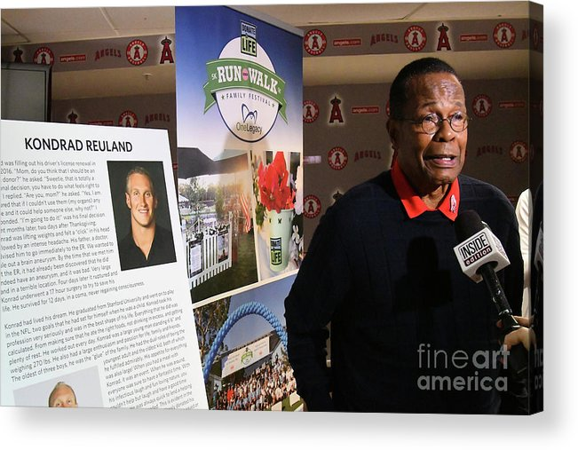 People Acrylic Print featuring the photograph Rod Carew by Jayne Kamin-oncea