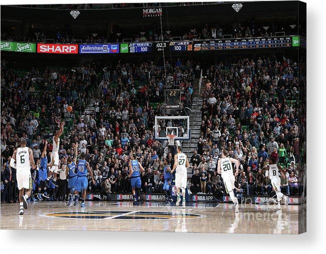 Nba Pro Basketball Acrylic Print featuring the photograph Rodney Hood by Melissa Majchrzak