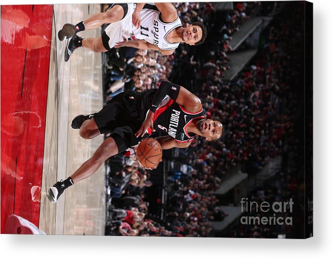 Nba Pro Basketball Acrylic Print featuring the photograph Rodney Hood by Sam Forencich