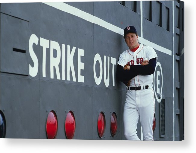 1980-1989 Acrylic Print featuring the photograph Roger Clemens by Ronald C. Modra/sports Imagery