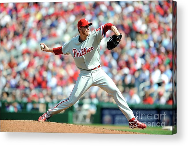 Baseball Pitcher Acrylic Print featuring the photograph Roy Halladay by Greg Fiume