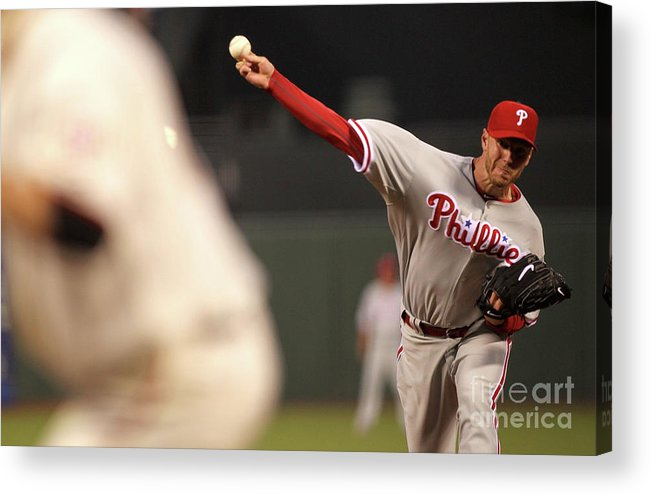 California Acrylic Print featuring the photograph Roy Halladay by Jed Jacobsohn