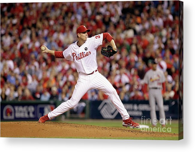 Citizens Bank Park Acrylic Print featuring the photograph Roy Halladay by Rob Carr
