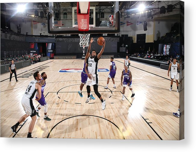 Nba Pro Basketball Acrylic Print featuring the photograph Rudy Gay by David Dow
