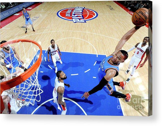 Nba Pro Basketball Acrylic Print featuring the photograph Russell Westbrook by Chris Schwegler