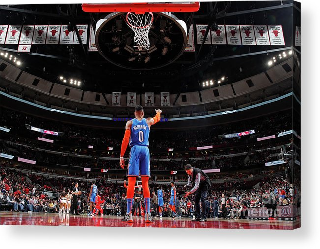 Nba Pro Basketball Acrylic Print featuring the photograph Russell Westbrook by Jeff Haynes