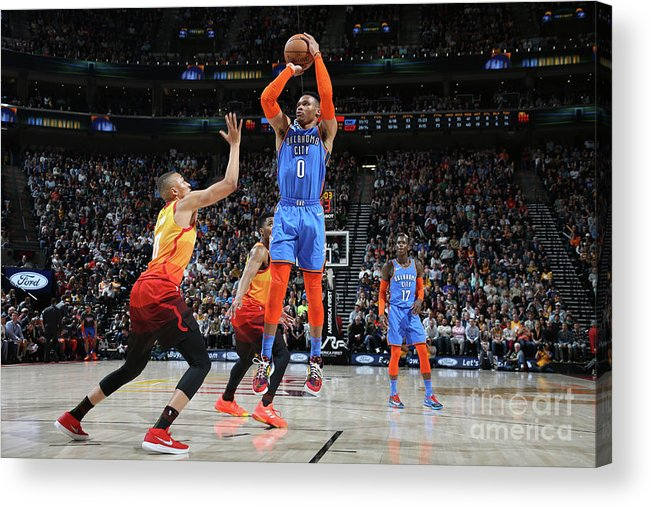 Nba Pro Basketball Acrylic Print featuring the photograph Russell Westbrook by Melissa Majchrzak