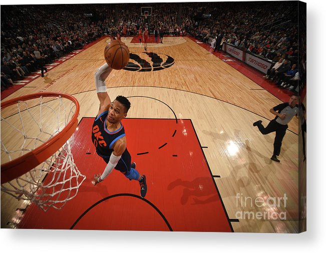 Nba Pro Basketball Acrylic Print featuring the photograph Russell Westbrook by Ron Turenne