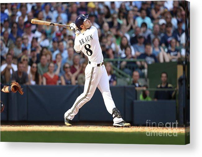 American League Baseball Acrylic Print featuring the photograph Ryan Braun by Mlb Photos